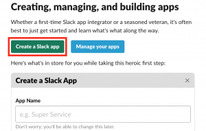 Creating, managing, and building apps